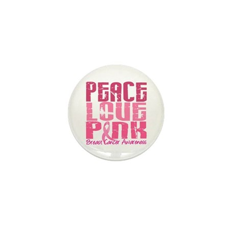 PEACE LOVE PINK Mini Button