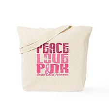 PEACE LOVE PINK Tote Bag