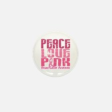 PEACE LOVE PINK Mini Button (10 pack)