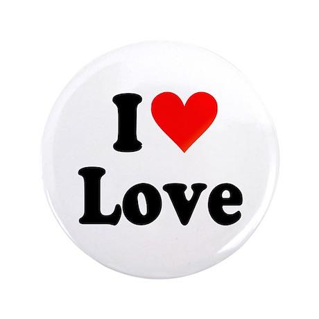 "I Heart Love: 3.5"" Button"