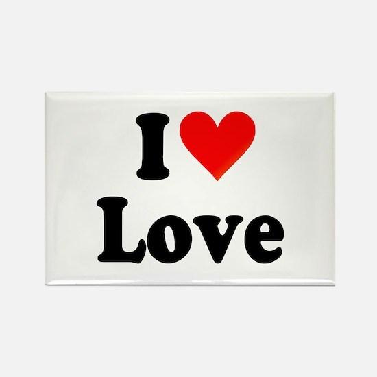 I Heart Love: Rectangle Magnet