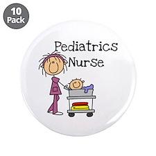 "Pediatrics Nurse 3.5"" Button (10 pack)"