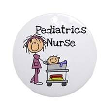 Pediatrics Nurse Ornament (Round)