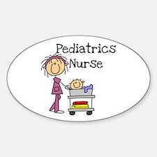 Pediatrics Nurse Oval Decal