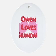 Owen Loves Grandma Oval Ornament