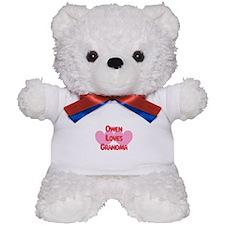 Owen Loves Grandma Teddy Bear