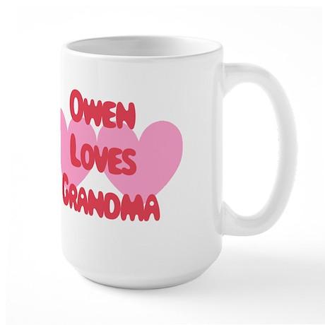 Owen Loves Grandma Large Mug