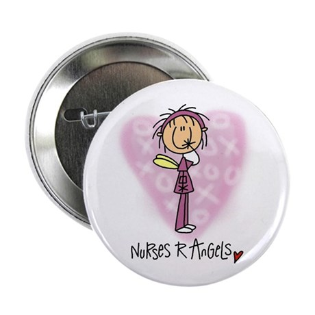 "Nurses R Angels 2.25"" Button (100 pack)"