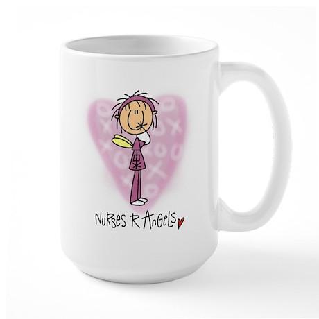 Nurses R Angels Large Mug