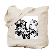 God vs Nietzsche Tote Bag