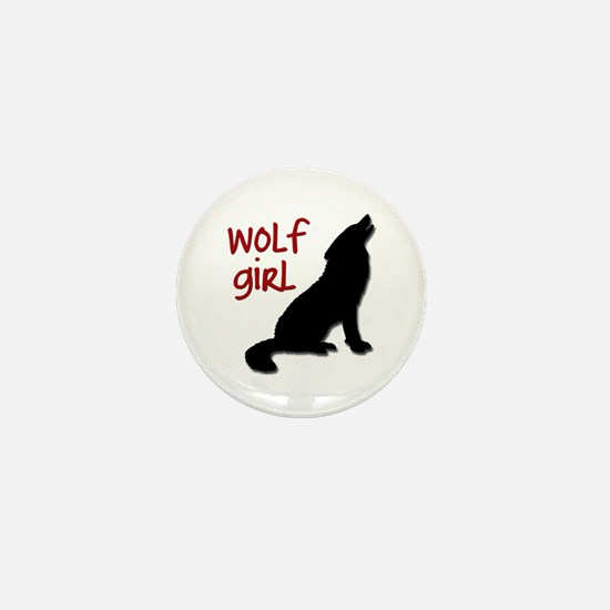 Wolf Girl Mini Button