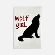 Wolf Girl Rectangle Magnet