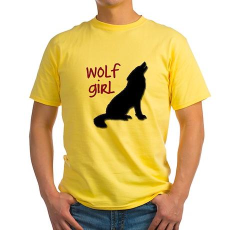 Wolf Girl Yellow T-Shirt