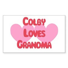 Colby Loves Grandma Rectangle Decal