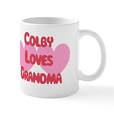 Colby Loves Grandma Small Mug