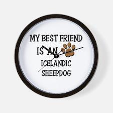 My best friend is an ICELANDIC SHEEPDOG Wall Clock