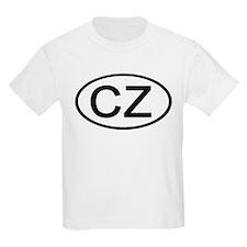 Czech Republic - CZ - Oval Kids T-Shirt