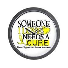 Needs A Cure LIVER CANCER Wall Clock