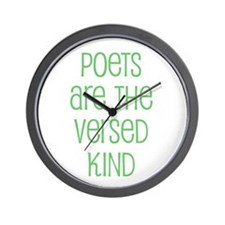 Poets are the versed kind Wall Clock