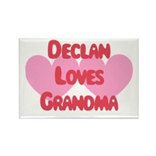 Declan Loves Grandma Rectangle Magnet