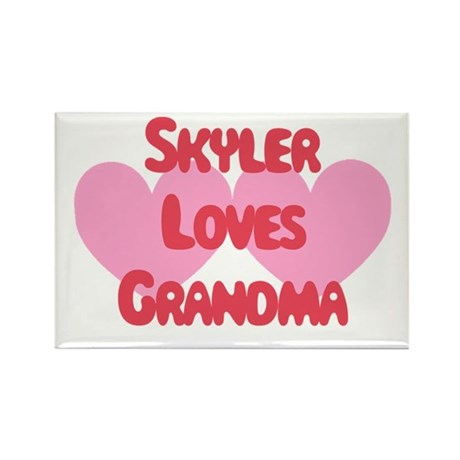 Skyler Loves Grandma Rectangle Magnet