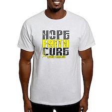 HOPE FAITH CURE Liver Cancer T-Shirt