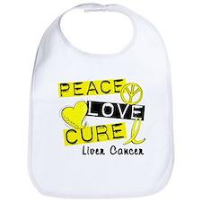 PEACE LOVE CURE Liver Cancer Bib