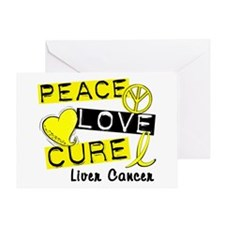PEACE LOVE CURE Liver Cancer Greeting Card