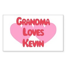 Grandma Loves Kevin Rectangle Decal