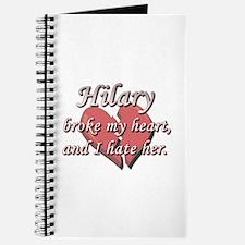 Hilary broke my heart and I hate her Journal