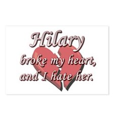Hilary broke my heart and I hate her Postcards (Pa