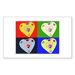 hearts Rectangle Sticker