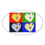 hearts Oval Sticker (50 pk)