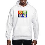 hearts Hooded Sweatshirt