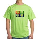 hearts Green T-Shirt