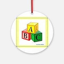 ABCs Ornament (Round)