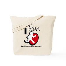 I Run MelanomaAwareness Tote Bag