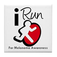 I Run MelanomaAwareness Tile Coaster