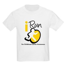 I Run Childhood Cancer T-Shirt