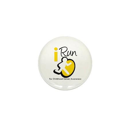 I Run Childhood Cancer Mini Button (100 pack)