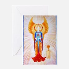 Angel With Rose (plain) Greeting Card
