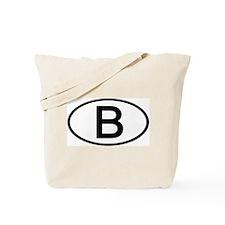 Belgium - B - Oval Tote Bag