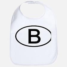 Belgium - B - Oval Bib