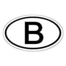 Belgium - B - Oval Oval Decal