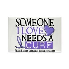 Needs A Cure ESOPHAGEAL CANCER Rectangle Magnet (1