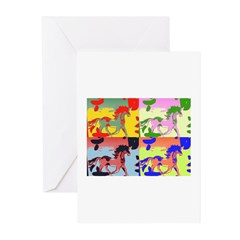 horses Greeting Cards (Pk of 20)