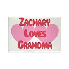 Zachary Loves Grandma Rectangle Magnet