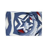 Patriotic Liberty Rectangle Magnet