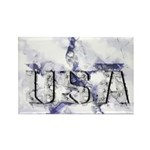 USA Star Rectangle Magnet