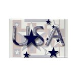 Patriotic USA Rectangle Magnet